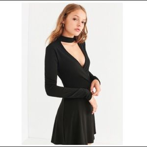Urban Outfitters Cut-Out Long Sleeve Wrap Dress